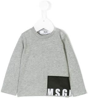 MSGM buttoned shoulder logo sweatshirt
