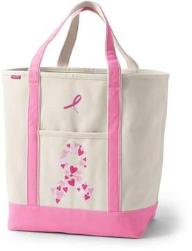 Lands' End Lands'end Pink Print Large Open Top Tote Bag