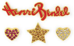 Henri Bendel Stars & Heart Crystal Pin Set