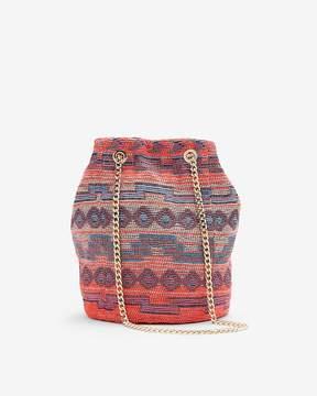 Express Chain Handle Geometric Bucket Bag