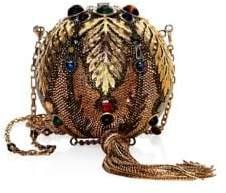 Judith Leiber Couture Crystal-Embellished Golden Sphere Crossbody Bag