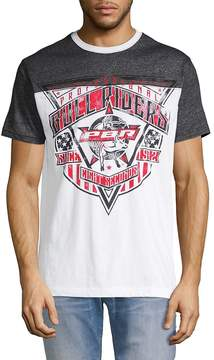 Affliction Men's PBR Rawhide Cotton Tee - White-black, Size l