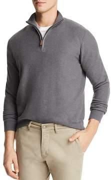 Bloomingdale's The Men's Store at Birdseye Quarter-Zip Sweater - 100% Exclusive