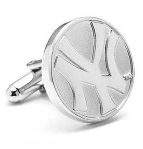 Ice Silver Edition Yankees Cufflinks