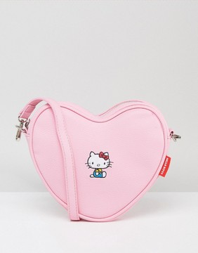 Lazy Oaf x Hello Kitty Heart Shaped Embroidered Cross Body Bag