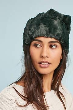 Anthropologie Faux Fur Beanie