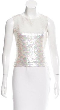 Akris Sequin Embellished Silk Top w/ Tags