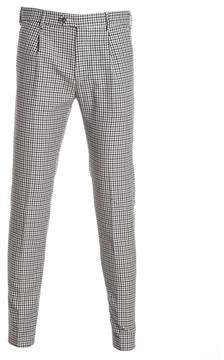 Berwich Men's Blue/brown Cotton Pants.