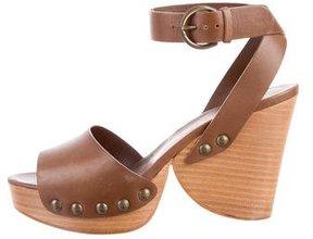 Walter Steiger Leather Wedge Sandals