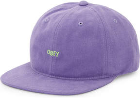 Obey New Deal embroidered cotton snapback cap