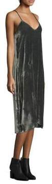 ATM Anthony Thomas Melillo Drape Velvet Camisole Dress