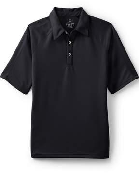 Lands' End Lands'end Men's Regular Short Sleeve Multi Textured Polo