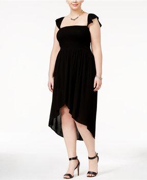 American Rag Trendy Plus Size Ruffled Tulip Dress, Created for Macy's