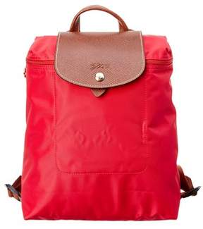 Longchamp Le Pilage Nylon Backpack. - RED - STYLE