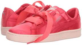 Puma Kids Basket Heart Tween Jr Girls Shoes
