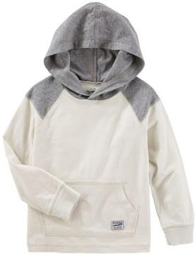 Osh Kosh Toddler Boy White Colorblock Pullover Hoodie