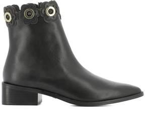 Kat Maconie Black Leather Ankle Boots
