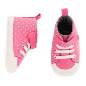 Carter's Baby Girl High Top Dotted Crib Shoes