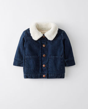 Hanna Andersson Sherpa Lined Denim Jacket