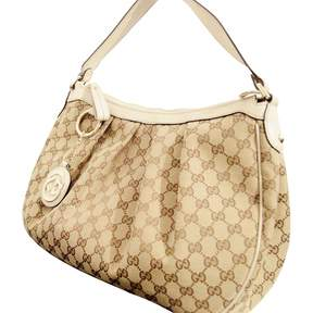 Gucci Hobo cloth tote - BEIGE - STYLE