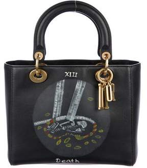 Christian Dior 2018 Death Tarot Card Medium Lady Bag