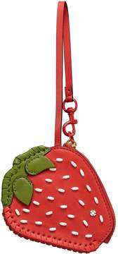 Tory Burch STRAWBERRY COIN POUCH KEY RING