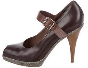 Marni Leather Mary Jane Pumps