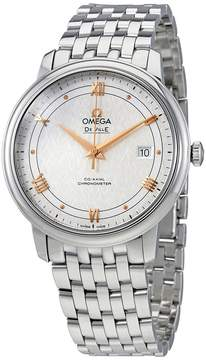 Omega De Ville Prestige Co-Axial Silver Dial Men's Stainless Steel Watch