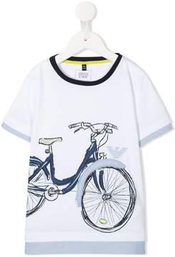 Emporio Armani Kids bike print T-shirt