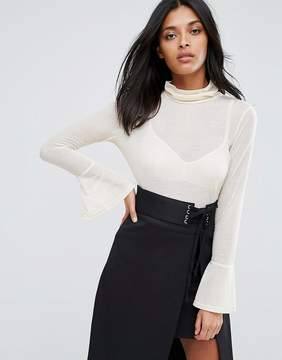 Chantelle A State Of Being Top With High Neck And Flare Sleeves