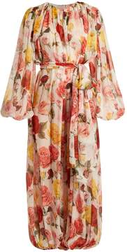 Dolce & Gabbana Floral-print gathered jumpsuit
