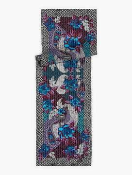 Talbots Flower & Paisley Silk Scarf