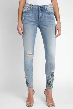 Driftwood Embroidered Floral Light Wash Jean