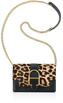 Anne Klein Peggy Leopard Print Calf Hair and Leather Crossbody