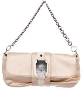 Lanvin Satin Chain-Link Shoulder Bag