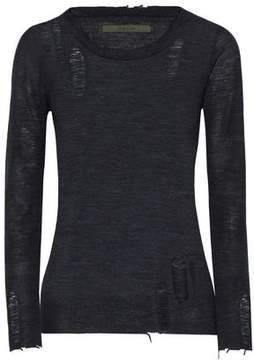 Enza Costa Distressed Merino Wool Sweater
