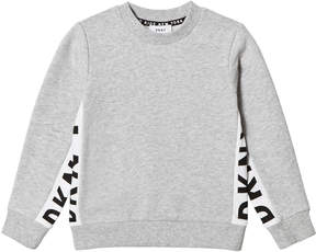 DKNY Grey Side Branded Sweater