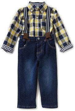 Little Me Baby Boys 12-24 Months Plaid Woven Shirt & Denim Jeans Set