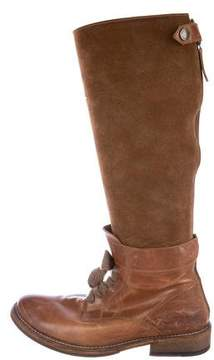 Brunello Cucinelli Suede Lace-Up Boots
