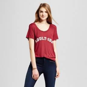 Fifth Sun Women's Adult-ish Drapey T-Shirt Burgundy Juniors')