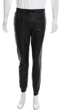 Alexander Wang Flat Front Leather Joggers
