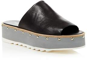 Charles David Float Studded Platform Slide Sandals