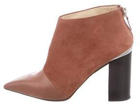 See by Chloe Leather Pointed-Toe Ankle Boots