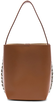 Givenchy Infinity Smooth Bucket Bag in Brown.