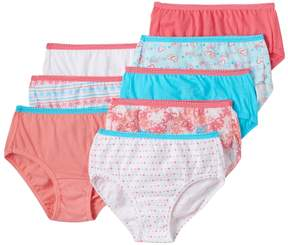 Hanes Girls 4-16 8-pk. Tagless Solids & Patterns Briefs