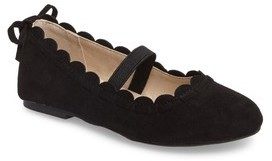 Jack Rogers Toddler Girl's Little Miss Lucie Scalloped Mary Jane Flat