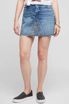 Blank Studded Denim Mini Skirt