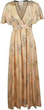 Forte Forte Leaf Print Maxi Dress