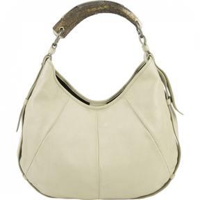 Saint Laurent Mombasa leather handbag - BEIGE - STYLE