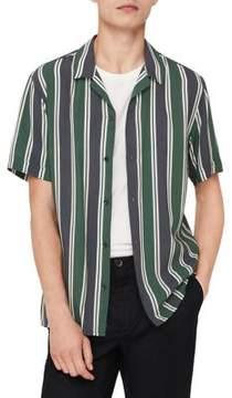 MANGO Striped Button-Down Shirt